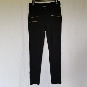 Athleta black Ponte moto pant size 6